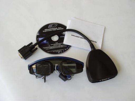 71a1b628c V balení sa nachádzajú samotné 3D okuliare E-D Wired Glasses, náhradné  koncovky okuliarov pre užívateľov s väčšími hlavami, zariadenie na zladenie  signálu, ...