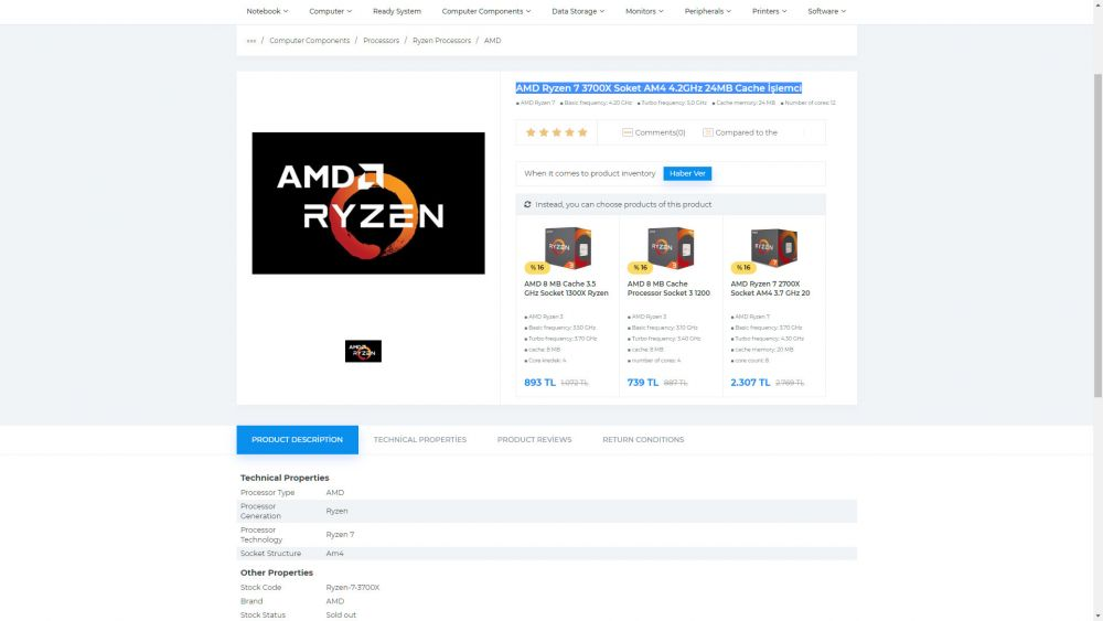 Únik špecifikácií AMD Ryzen 9 3800X, Ryzen 7 3700X, Ryzen 5 3600X