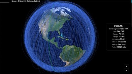 Real Time Mapa Zobrazuje Aktualnu Polohu Objektov Okolo Zeme Pc Sk
